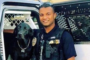 Hundreds pay tribute to slain California officer Ronil Singh who was gunned down after stopping an illegal immigrant