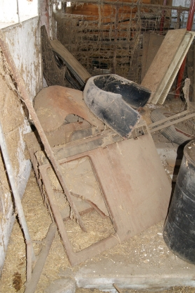 Model A uncovered in a barn, sitting for decades