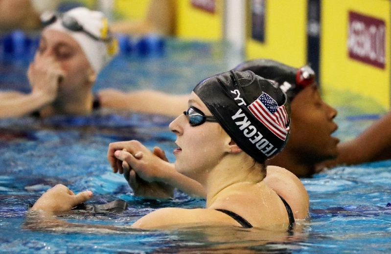 Ledecky opens 2019 campaign with 200 free, 400 IM wins