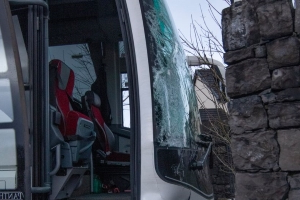 Lucky escape for students after school bus crashes in Donegal