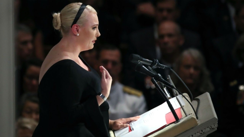 Meghan McCain Says Speaking at Dad John McCain's Funeral Felt Like Being on Drugs