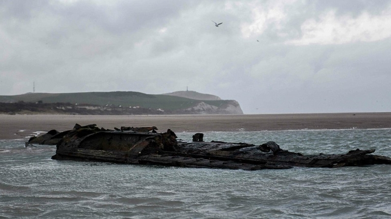World: German WW1 U-boat emerges off French coast