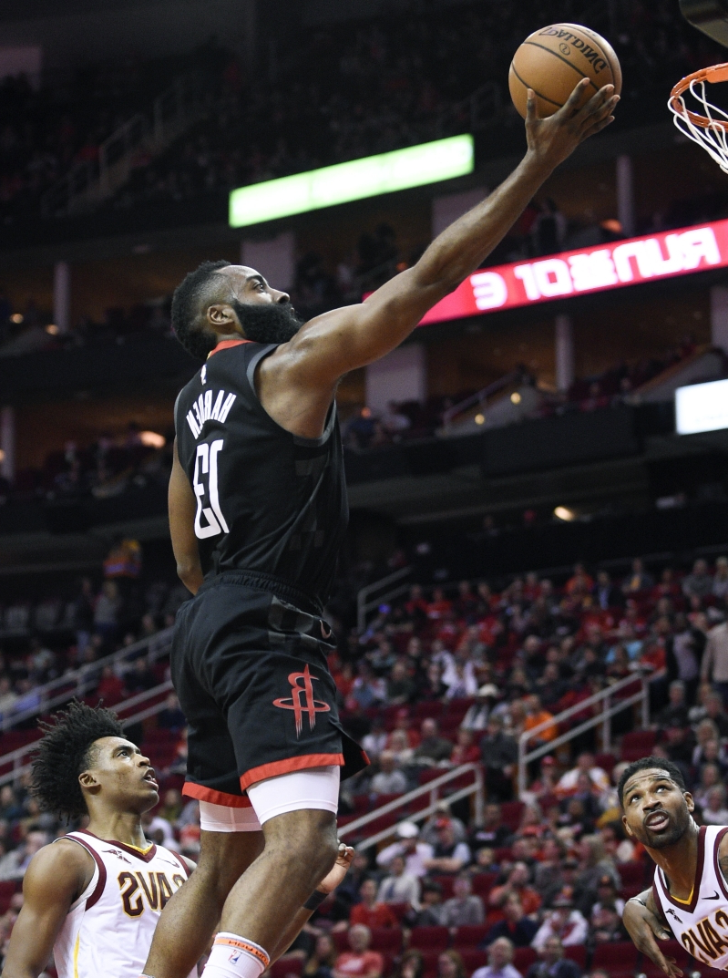 f63c4aeafd2 Sport  Harden has triple-double to lead Rockets over Cavs 141-113 ...