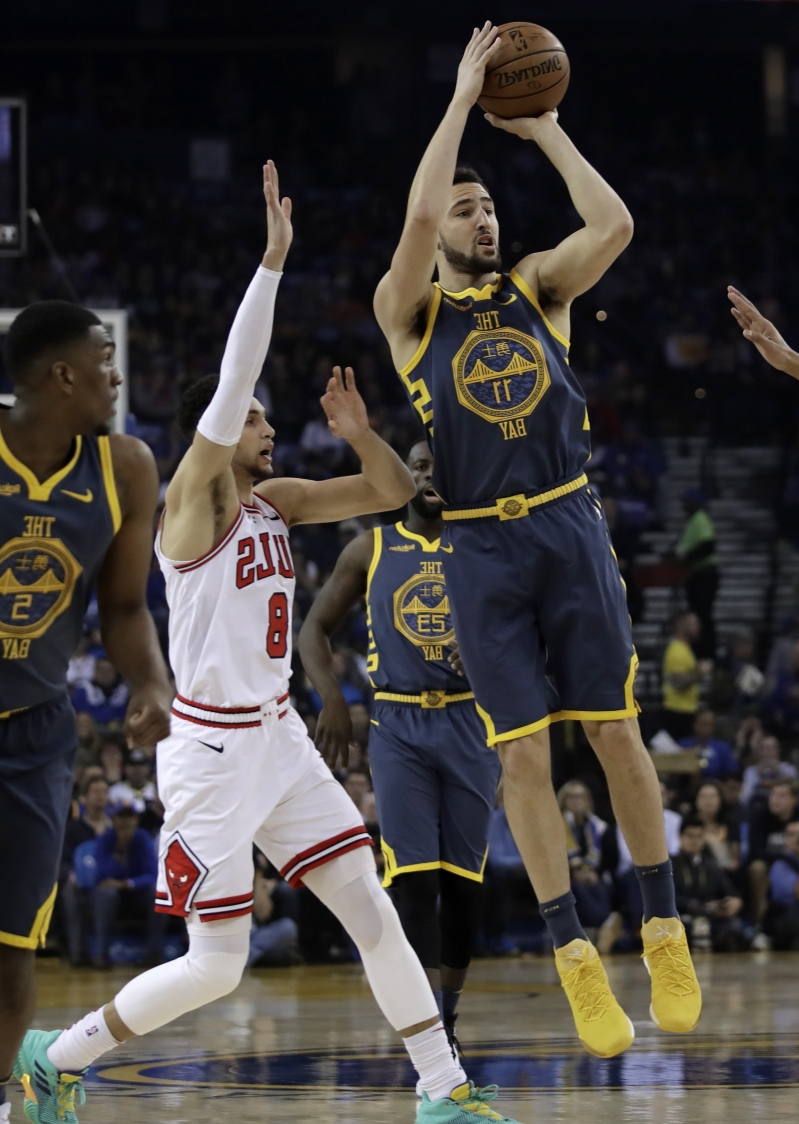 Klay Thompson torches Bulls again in Warriors 146-109 win