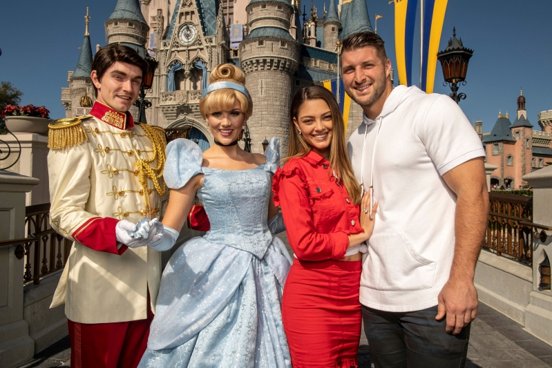 Tim Tebow heads to Disney World with new fiancée Demi-Leigh Nel-Peters to celebrate