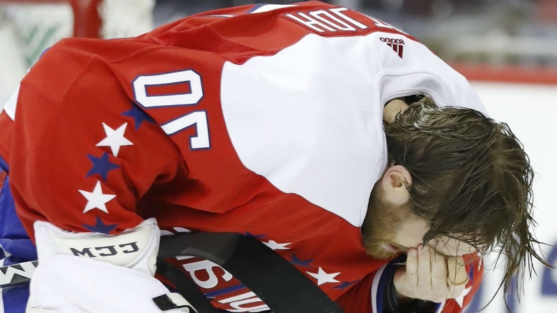 Holtby won't return to Capitals game after high stick to eye