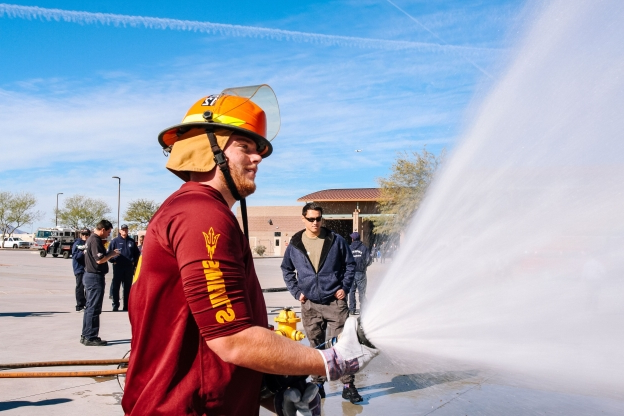Sun Devils firsthand look at what it's like to be firefighters