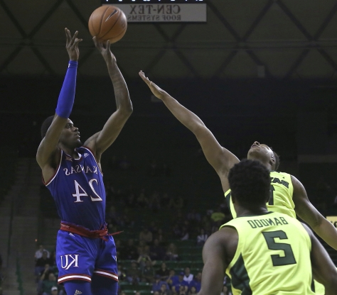 Vick makes 6 3-pointers on 22nd birthday, Kansas downs Baylor on road, 73-68