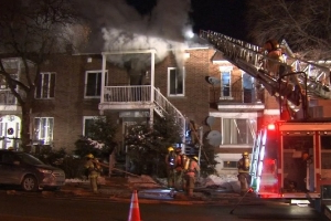 Burning candle causes $100K fire in Montreal