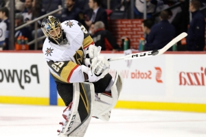 Goalie Marc-Andre Fleury gets caught building snow wall in crease