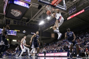 Norvell leads No. 5 Gonzaga over Loyola Marymount 73-55