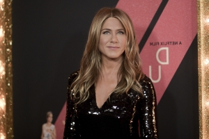 Jennifer Aniston Slays on Set in a Fancy Red Jumpsuit She Would Totally Wear in Real Life