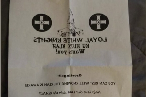 'Rest well knowing the Klan is awake!' say KKK recruiting flyers tossed into NC yards
