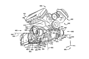 Ford patent application could hint at V8 power for Mustang hybrid