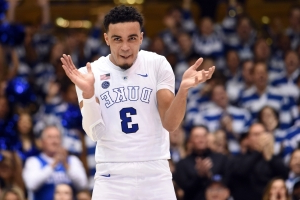 Watch: Duke's Tre Jones with pass of the college basketball season