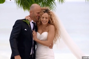 'I'm not your therapist!' MAFS' Mike Gunner berates new bride Heidi Latcham on the beach during their 'honeymoon from hell'... as she insists the fight was HER fault