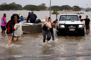 Crocodiles may turn up in the street, other 'unusual places,' officials warn amid Australia floods
