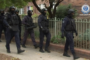 Samurai sword found in Sydney raids