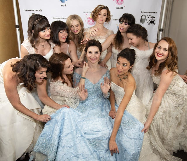 af4c6a493f71 Bride Had Guests Wear Their Old Wedding Dresses At Her Wedding And It Was  Beautiful