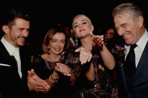 Pelosi goes viral again after appearing to recreate State of the Union clap with Katy Perry and Orlando Bloom