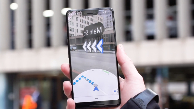 Google is letting some users test its AR navigation feature for Google Maps