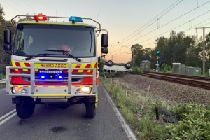 High-range 'drink driver' rolls 4WD onto train tracks
