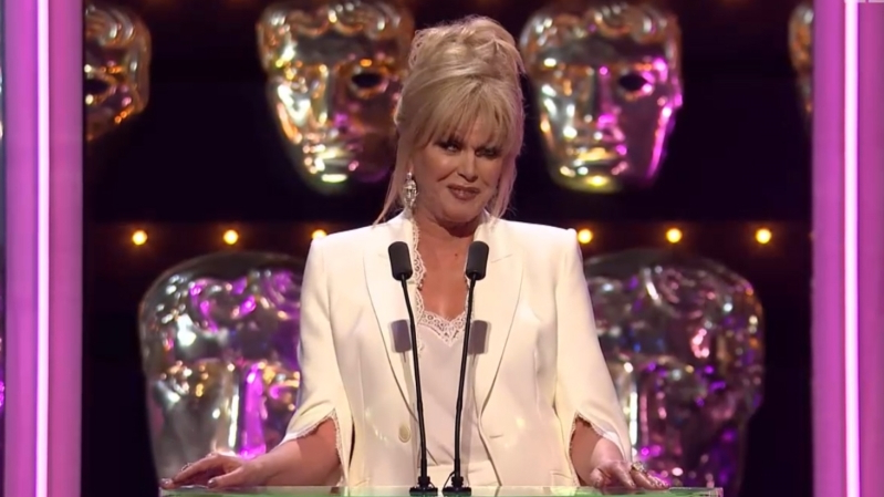 Joanna Lumley's 'train wreck' BAFTA jokes are getting panned