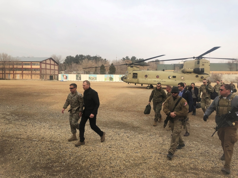 Acting Pentagon chief visits Baghdad to support Iraq, discuss Syria withdrawal