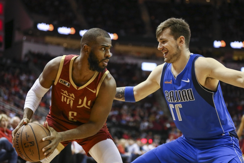 Watch: Luka Doncic goes full James Harden against James Harden