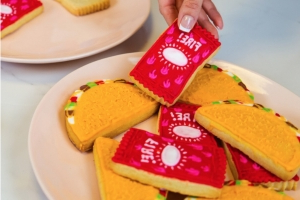 Taco Bell fire-sauce packet cookie cutters will spice up your baking