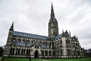 Russian Flag Which Appeared On Salisbury Cathedral Overnight Labelled 'Stupid Stunt'
