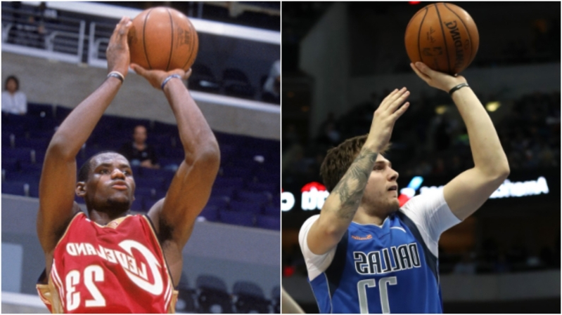 16853d0cbced Sport  Luka Doncic and LeBron James  rookie seasons compared ...