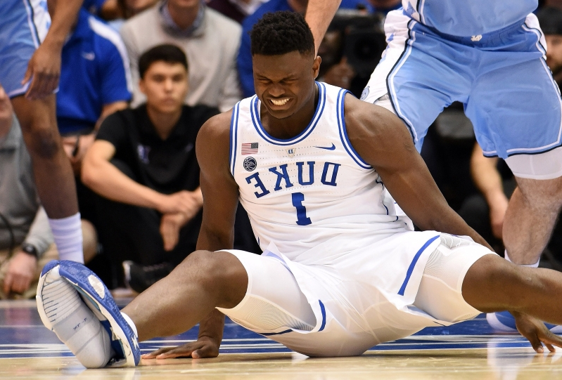 low priced 37d97 d310a Nike Stock Shares Drop Following Zion Williamson Shoe Incident