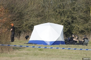 Could police be close to finding murdered mother-of-four's body? Officers comb through a field close to where Linda Razzell, 41, disappeared - 16 years after her estranged husband was jailed for killing her