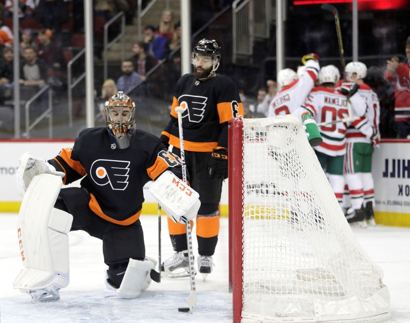 Flyers set NHL record using 8th goaltender this season