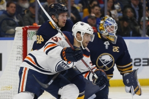Oilers score 3 in second-period, rally to beat Sabres 4-3