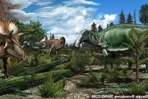 Dinosaurs were thriving before the deadly asteroid strike that wiped them out 66 million years ago, according to a new study