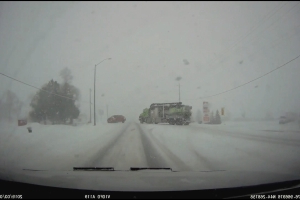 Near-miss collision caught on tape in Napanee snowstorm