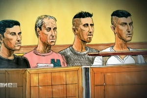 Accused murderers' supporters laugh in Melbourne court