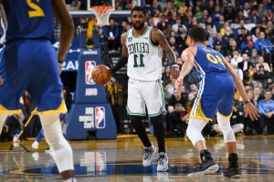 Celtics G Kyrie Irving out vs. Kings with bruised left thigh