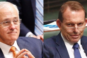 Former prime ministers Malcolm Turnbull and Tony Abbott square off over Paris Climate Accord