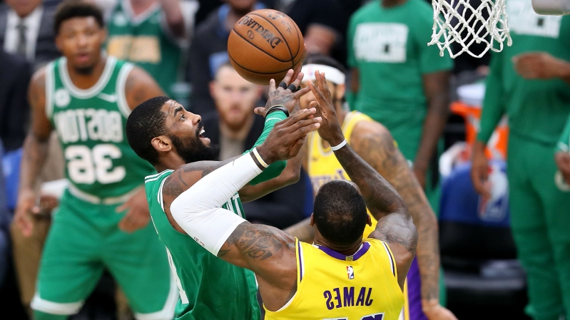 e39832eecba Kyrie Irving on facing LeBron James in Celtics-Lakers rematch   It s just  another