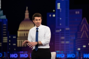 Pete Buttigieg calls Mike Pence a 'cheerleader for the porn star presidency'