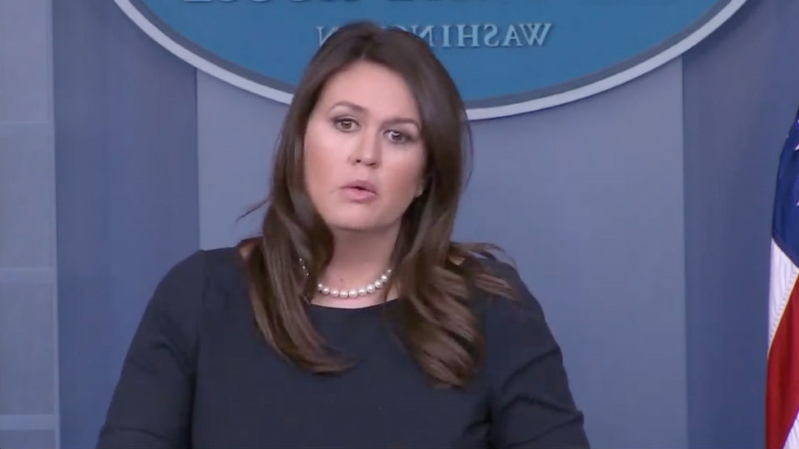 Sarah Sanders won't say if Trump believes Dems hate Jews
