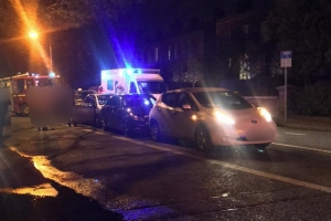 Three people taken to hospital following four-car collision in Terenure