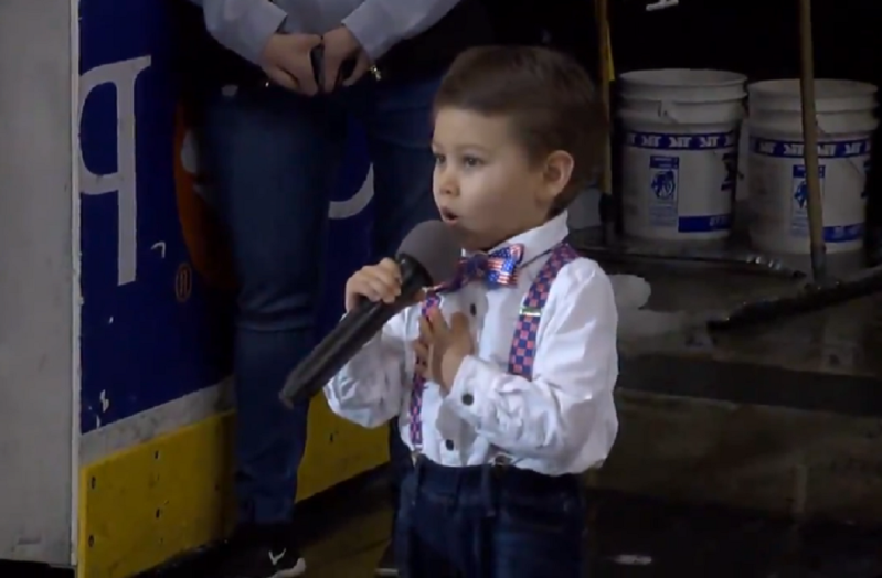 4-year-old sings national anthem in most adorable sports moment of 2019