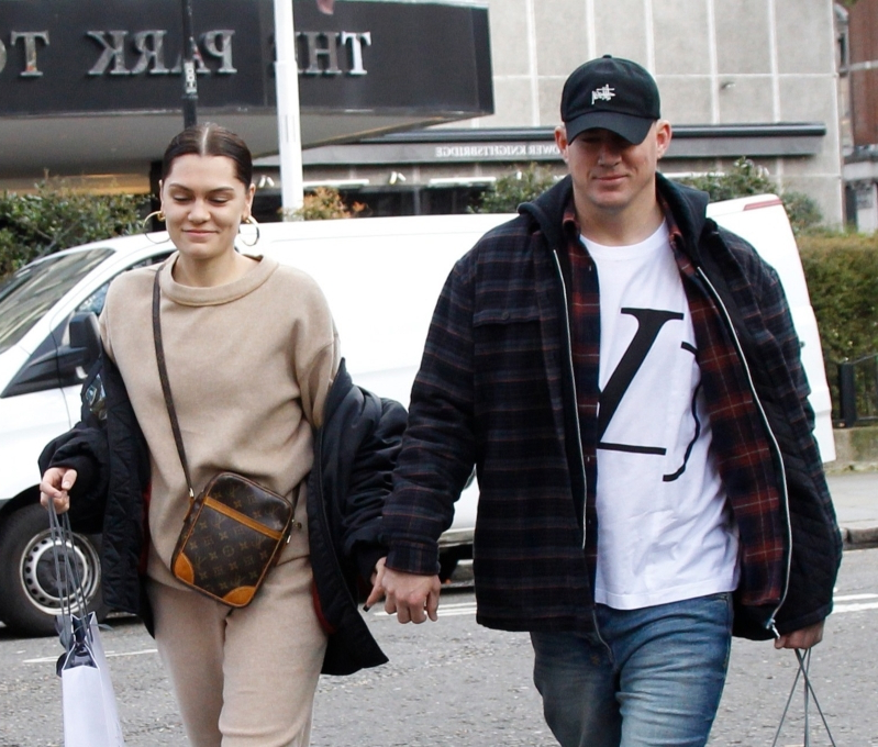 Channing Tatum and Jessie J hold hands while shopping in London