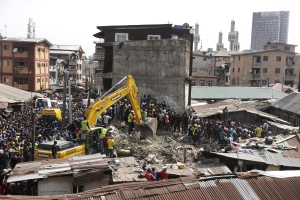 Death toll rises to nine in collapsed Lagos school building