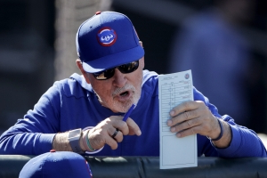 Cubs manager Joe Maddon is not thrilled with the new three-batter minimum for pitchers