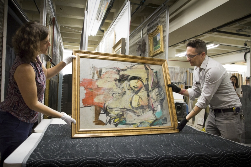 Recovered de Kooning painting back in the spotlight